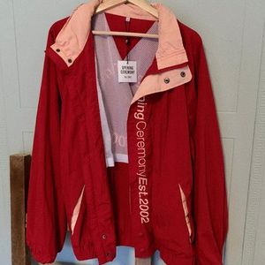 Red and Peach Opening Ceremony Windbreaker